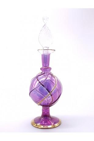 Üfleme Cam Doldurulabilir Parfüm Koku Şişesi Mor