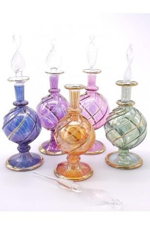 Üfleme Cam Doldurulabilir Parfüm Koku Şişesi Mavi