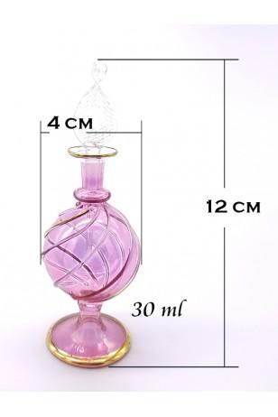 Üfleme Cam Doldurulabilir Parfüm Koku Şişesi Pembe
