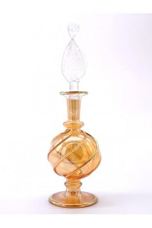 Üfleme Cam Doldurulabilir Parfüm Koku Şişesi Sarı