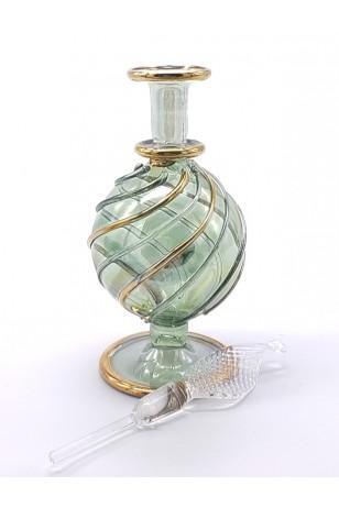 Üfleme Cam Doldurulabilir Parfüm Koku Şişesi Yeşil