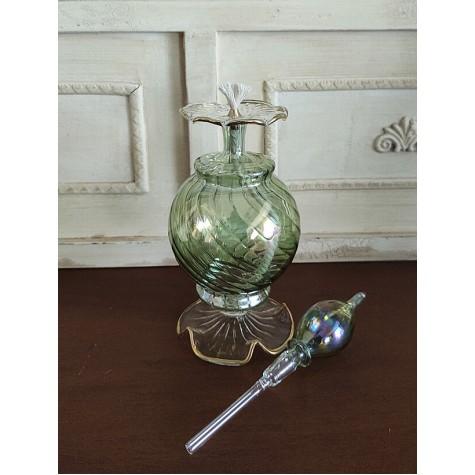 Üfleme Cam Kandil Parfüm Şişesi Yeşil