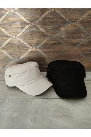 Fidel Castro Siyah ve Açık Bej 2'li Unisex Şapka