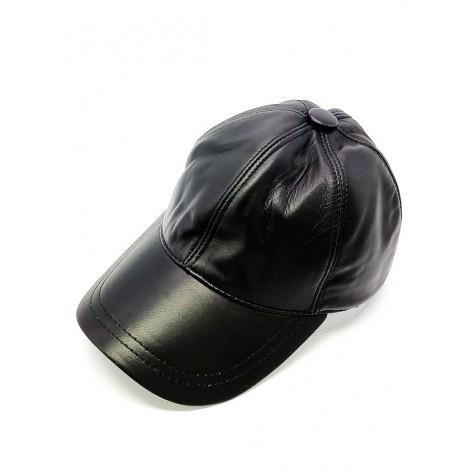 Siyah Hakiki Deri Unisex Şapka