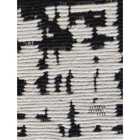 Çift Taraflı Saçaklı Siyah 4 m2 Kilim