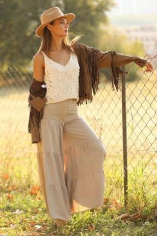 Doğal Desenli Bluz