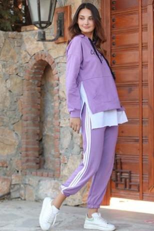 Lila Eşofman Takım